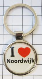 SLE_ZH10.001 Sleutelhanger I love Noordwijk