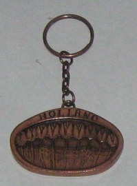 SLE011 sleutelhanger tulpenveld koperkleur
