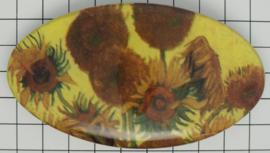 Haarspeld ovaal zonnebloemen Vincent van Gogh HAO 203