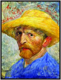pak 25 posters (35.5 cm  x 27.2 cm) POS204 Vincent van Gogh zelfportret