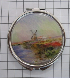 SPI 001 Spiegeldoosje molen tulpenveld Monet