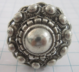 topper,  ZKR314 extra grote bolle zeeuwse knop ring