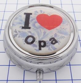 PIL 091 pillendoosje met spiegel I love opa
