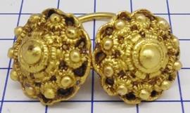 ZKK811-G kinderkeelknopen verguld met ringetje midden