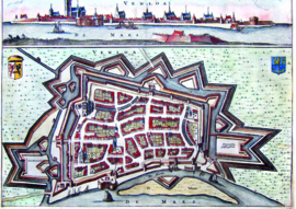 10 stuks poster op karton plattegrond Venlo POS-0052 posters(20.8Cm / 29.5Cm)