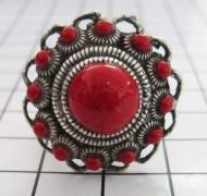 ZKR303-R zeeuwse knop rode emaille