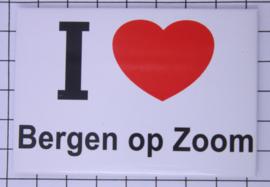 10 stuks koelkastmagneet I love Bergen op Zoom  N_NB6.004