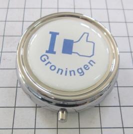 PIL_GR1.002 pillendoosje met spiegel I like Groningen