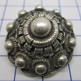 ZKB917 zeeuwse knop broche bol verzilverd