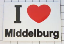 10 stuks koelkastmagneet Zeeland I ♥ Middelburg N_ZE2.001