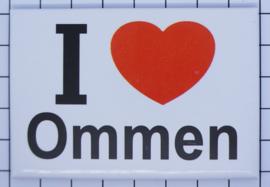 10 stuks koelkastmagneet I love Ommen N_OV7.001