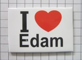 10 stuks koelkastmagneet I love Edam  N_NH3.502
