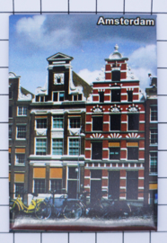 10 stuks koelkastmagneet Amsterdam grachtenpanden  MAC:19.030