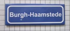10 stuks koelkastmagneet  plaatsnaambord Burgh-Haamstede  P_ZE8.2001