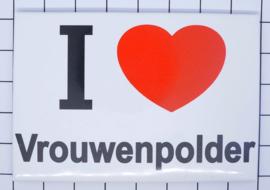 10 stuks koelkastmagneet I love Vrouwenpolder N_ZE8.301