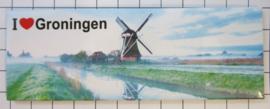 10 stuks koelkastmagneet I love  Groningen  P_GR1.0007