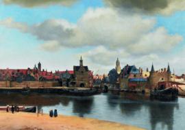 10 stuks poster op karton Gezicht op Delft POS-0056 posters(20.8Cm / 29.5Cm)