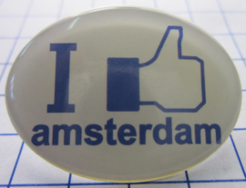 HAM301 Haarspeldje 4 cm I like Amsterdam