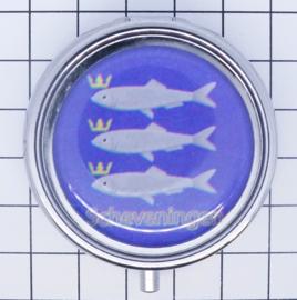 PIL_ZH9.002 pillendoosje met spiegel  ik hou van  Scheveningen