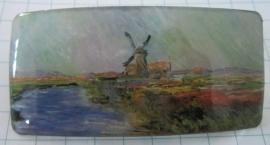 Haarpsled rechthoek molen met tulpenveld Claude Monet HAR 006