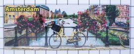 10 stuks koelkastmagneet Amsterdam  fiets brug bloemen 22.037