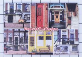 10 stuks koelkastmagneet  doors of Amsterdam  18.959