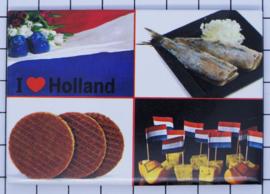 10 stuks koelkastmagneet Holland 20.533 stroopwafel haring