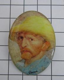 BRO 805 Vincent van Gogh zelfportret broche
