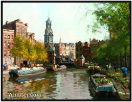 pak 25 posters (35.5 cm  x 27.2 cm) POS009 Bloemenmarkt Amsterdam