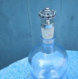 Flessenstop Zeeuwse knop zwaar verzilverd