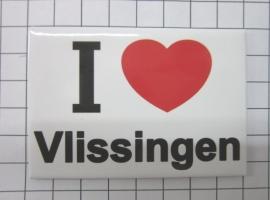10 stuks koelkastmagneet Zeeland I ♥ Vlissingen N_ZE5.501