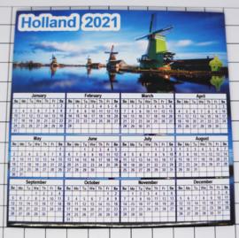 10 stuks Mega koelkastmagneet Holland  kalender 2021 MEGA_V_CAL.003