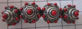 schuifhaarspeldje  4 zeeuwse knopjes rood uitverkocht