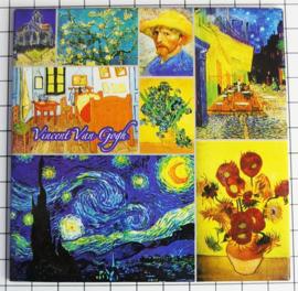 10 stuks Mega koelkastmagneet Vincent Van Gogh MEGA_V_20.401