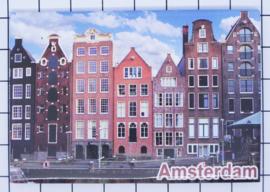 10 stuks koelkastmagneet Amsterdam grachten gevels 18.970