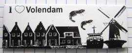 10 stuks koelkastmagneet Volendam  P_NH4.0018