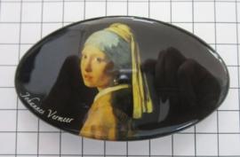 Haarspeld ovaal HAO 410 Meisje met parel Johannes Vermeer