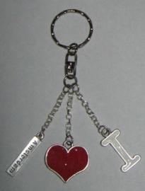 SLE106 sleutelhanger i love amsterdam