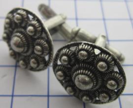 Manchetknopen Zeeuwse knop, 20 mm, per paar ZKG415