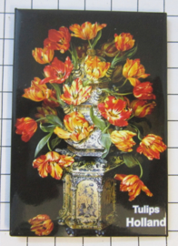 10 stuks  koelkastmagneet Holland   MAC:20.120 Delftsblauwe vaas tulpen