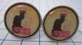 manchetknopen Zwarte kat MAK106
