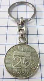 MSLE012 sleutelhanger rijksdaalder zwaar verzilverd, jaartal 1995