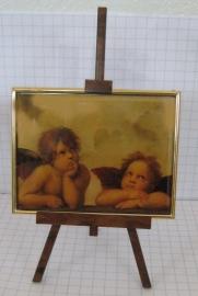 SCH034 schildersezel 22 cm hoog , engeltjes Raphael