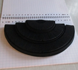 no 6 presentatie haf rondje voor ringen zwart velour