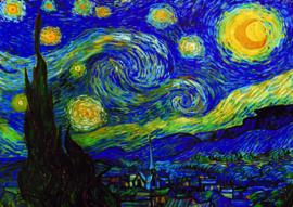 10 stuks poster op karton Sterrennacht boom Vincent van Gogh POS-0008 posters(20.8Cm / 29.5Cm)