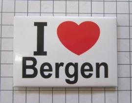 10 stuks koelkastmagneet I love Bergen N_NH6.001