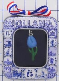 HAN 117 kettinkje tulpje blauw