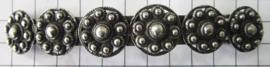 ZKG435 Verzilverde Zeeuwse knop haarspeld 10 cm