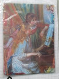 10 stuks muismat meisjes piano van Auguste Renoir