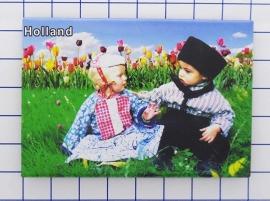 10 stuks koelkastmagneet Holland MAC:20.531 kinderen Hollandse klederdracht